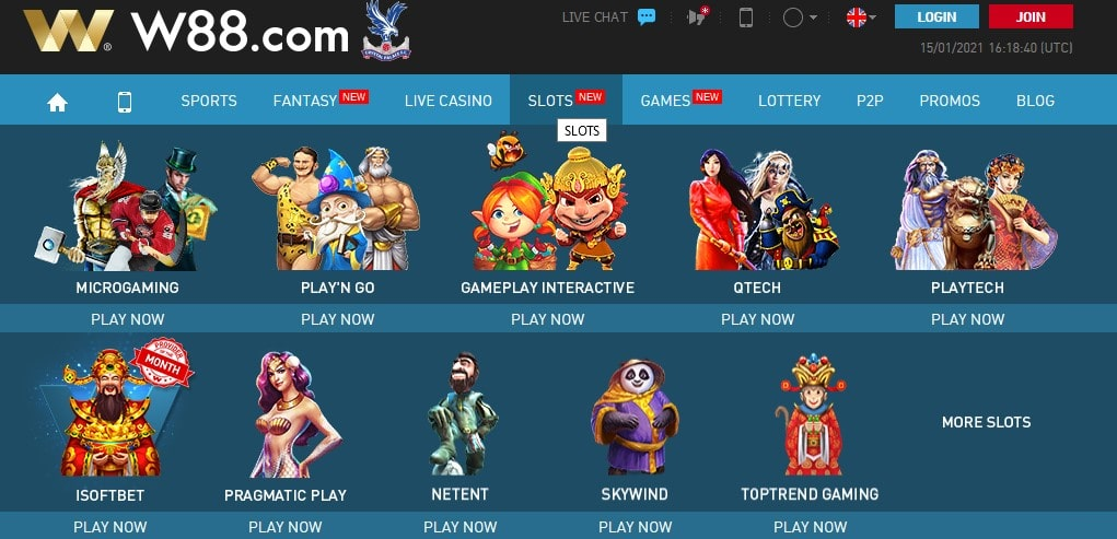 W88 Casino offers a wide variety of games