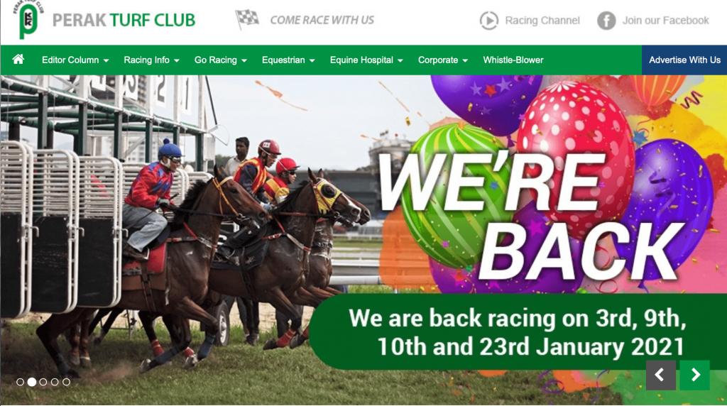 Perak Turf Club website